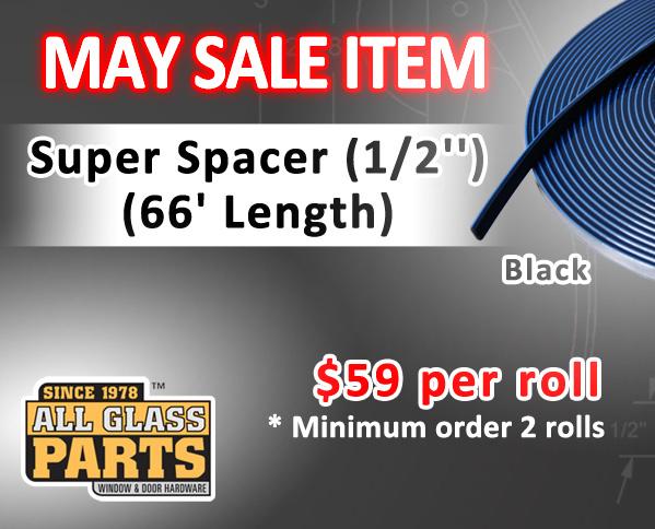 Super Spacer (1/2'') (Black) (66' Length) - February Sale item