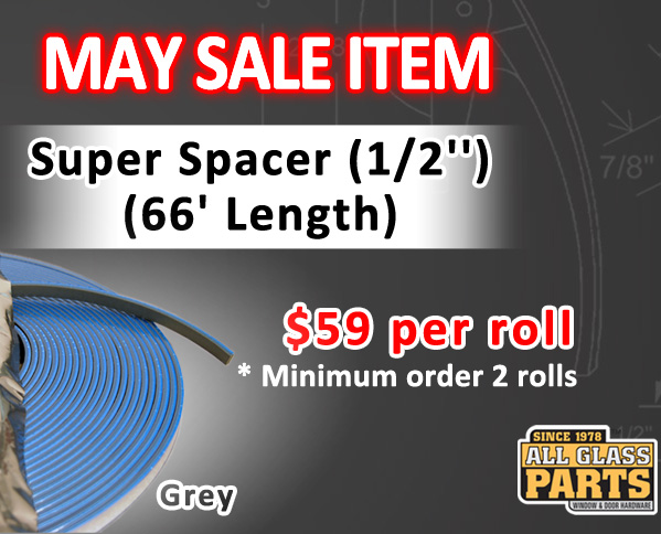 Super Spacer (1/2'') (Grey) (66' Length) - May Sale item